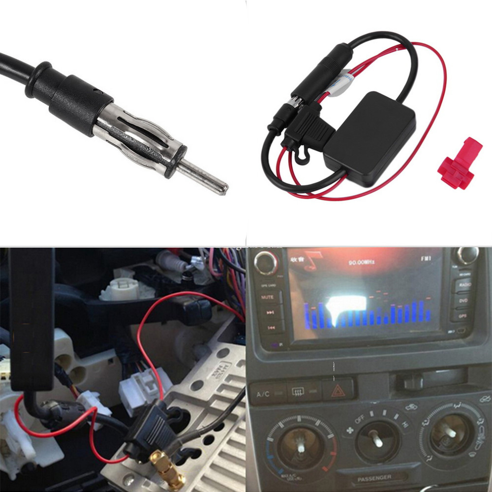 Universal car radio fm antenna signal amplifier booster auto aerial antenne voiture amplifier for marine car