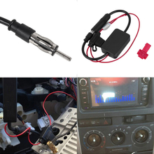 Universal Car radio FM Antenna signal amplifier booster Auto aerial  antenne voiture amplifier for Marine Car Boat RV