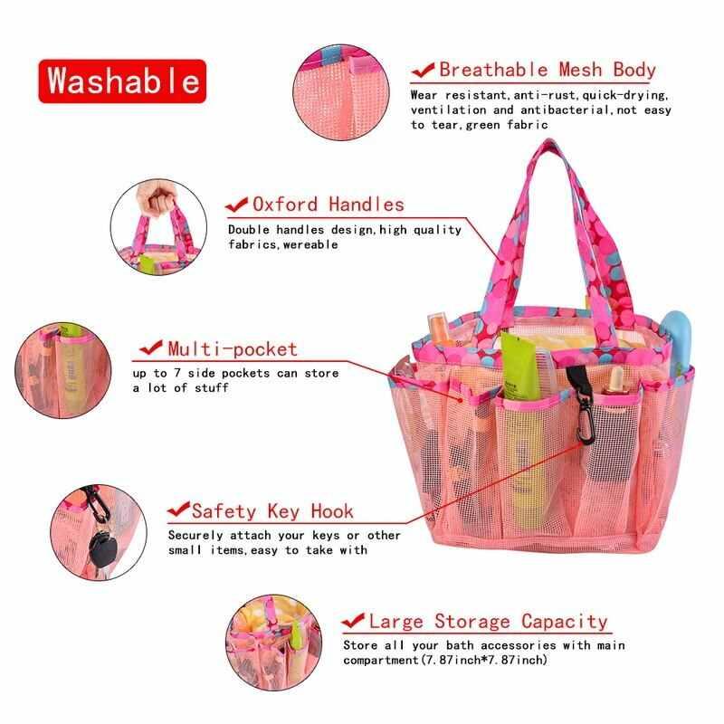 Phụ nữ Chống Thấm Nước Đựng Mỹ Phẩm Trường Hợp Tắm Rửa Vệ Sinh Túi Du Lịch Tổ Chức Bàn Chải Đánh Răng Túi Đa Năng Lưới