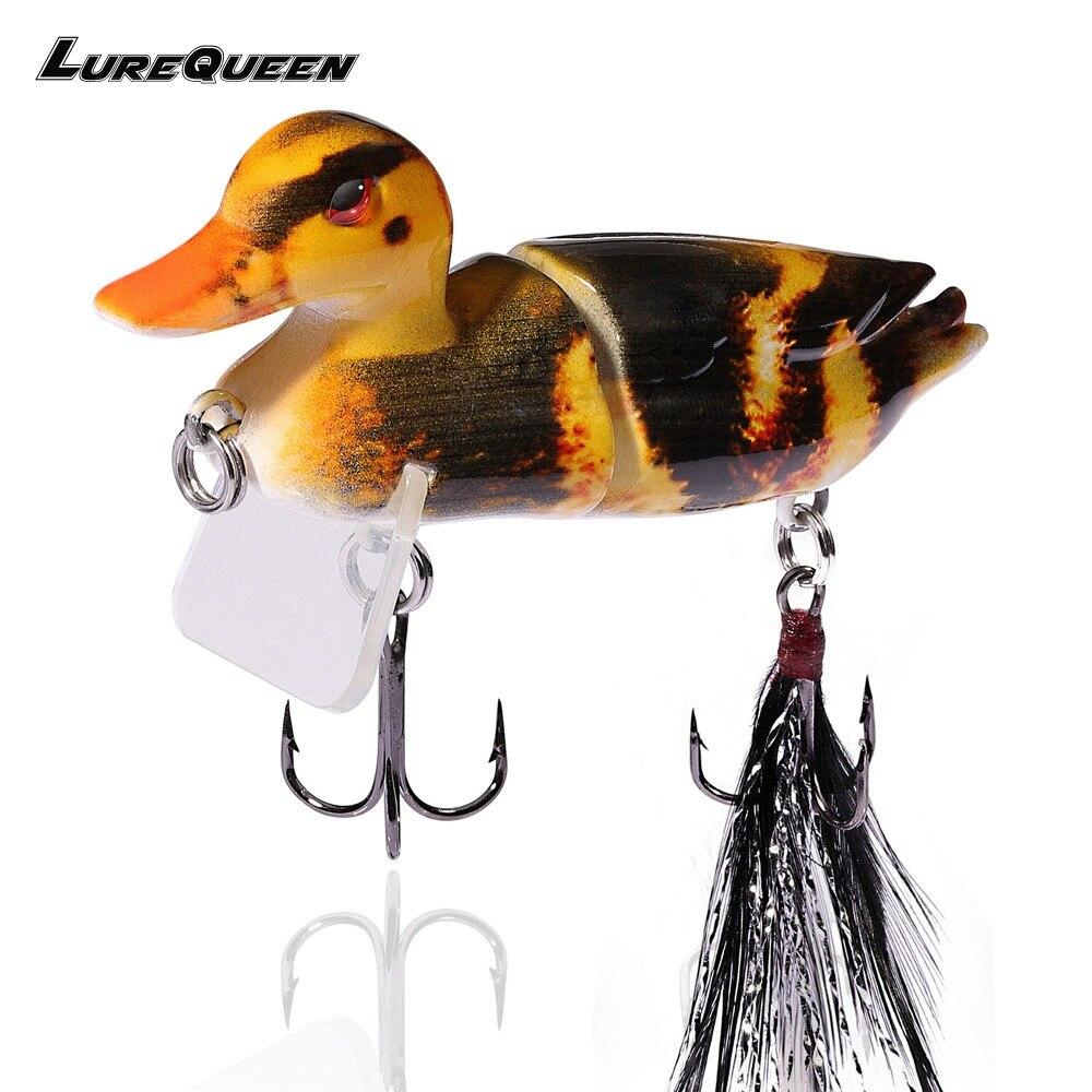 7 cm 10g Topwater Schwimm Lockt Ente Angeln Köder mit Haken Jointed Harter Köder Bass Fishing Lure Wobbler 3D swimbaits Peche