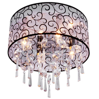 Vintage Crystal Pendant Lamp Chandelier Living Room 4 Lights HI5