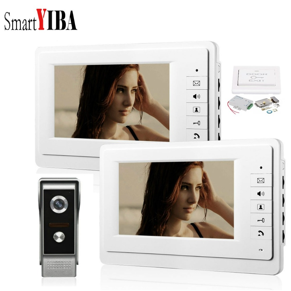 Alert Smartyiba Wired 7inch Tft Lcd Screen Video Door Phone Intercom Doorbell House Gate Entry Security System Kit Metal 700tvl Camera