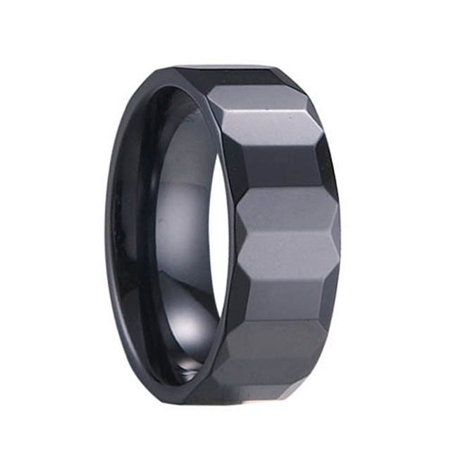 17b51c24add2d3 New Arrival Women Men Ceramic Rings Black Fashion Ceramic Finger Rings  Wedding Band Jewelry
