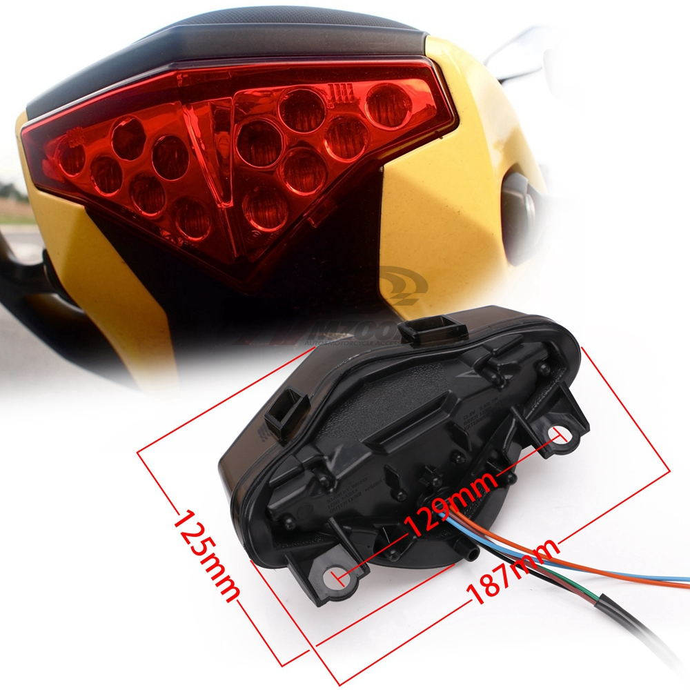 cheapest Motorcycle 2 in 1 LED Front Turn Signals w  Day Light Blinkers 3 in 1 Rear Turn Signal Light Indicators w  Brake Tail Light M10
