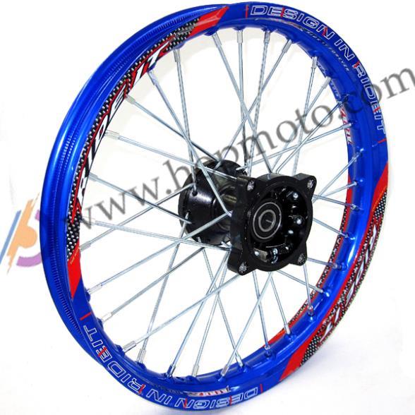 Blue Dirt Bike Pit Bike Racing Wheel 140 14 Inch Alloy Front