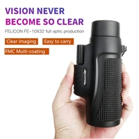 Hot 10X32 Powerful Multi coated Nautical Waterproof Monocular BAK4 Prism Telescope With Clip Spotting Scope For Camping Hunting