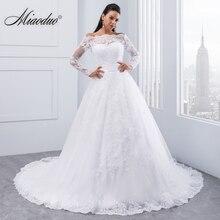 Miaoduo Vestidos De Novia 2017 Long Sleeve Lace Wedding Dress Ball Gown Wedding Dresses 2017 Robe De Mariage Wedding Gowns