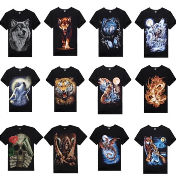 2014 Hot Sale New Design 3D Printed T Shirt Men 100% Cotton Causul ...