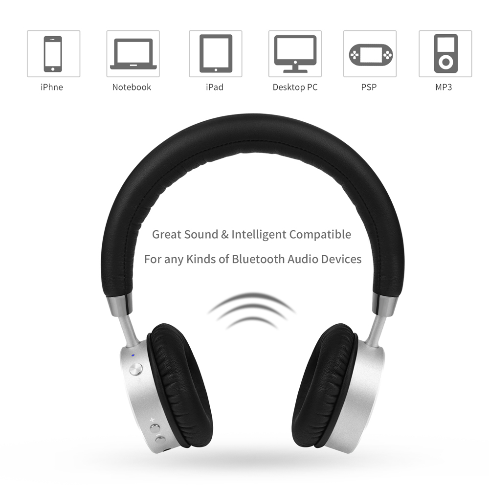 SHOOT Trådløse Bluetooth-hodetelefoner med mikrofon Dynamic Stereo Headset til iPhone Xiaomi Meizu Android Phone Music Call