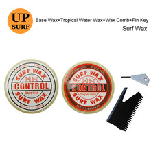 Surfboard Wax Base Wax+Tropical Water Wax+wax comb and fin key natural surf wax
