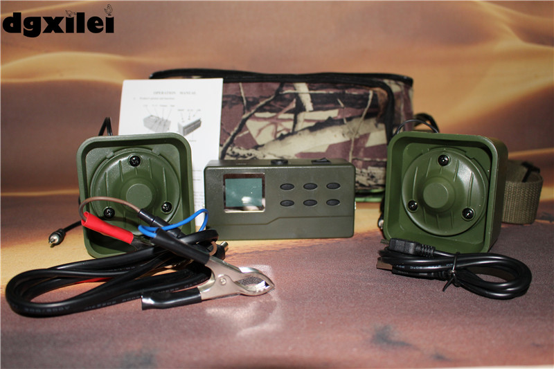 high quality duck call mp3 sounds hunting bird caller 390 with 35w promotion speaker 2 receivers 60 buzzers wireless restaurant buzzer caller table call calling button waiter pager system