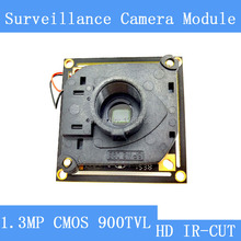 HD Color CCD 900 TVL camera module with dual HD ICR filter switch module surveillance cameras PCB Board PAL / NTSC Optional