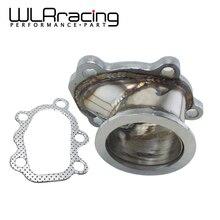 """WLR RACING-адаптер из нержавеющей стали для T25 T28 GT25 GT28 2,"""" 63 мм V-band зажим фланец турбо вниз трубы адаптер WLR4833"""