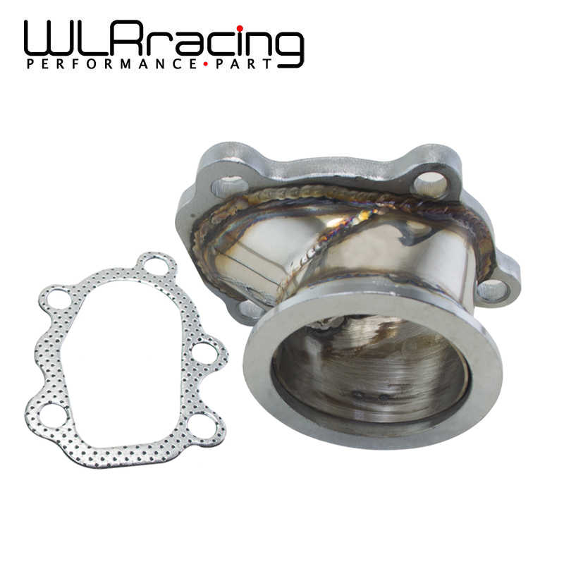 "WLR RACING - Stainless Steel Adapter for T25 T28 GT25 GT28 2.5"" 63mm V- band Clamp Flange Turbo Down Pipe Adapter WLR4833"