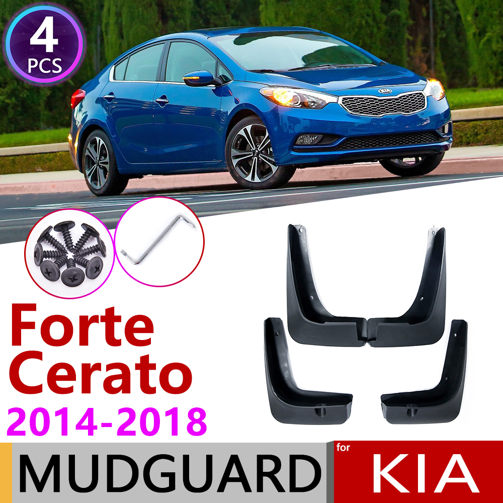 for KIA Forte Cerato K3 2014~2018 Front Rear Fender Mudguard Mud Flaps Guard Splash Flap Mudguards Accessories 2015 2016 2017 image