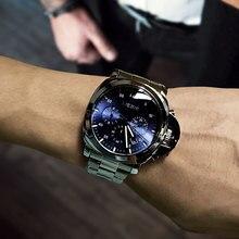 Megir 3006 الفاخرة الأعمال ساعة كوارتز الرجال مقاوم للماء ساعة اليد الفولاذ المقاوم للصدأ حزام ساعات ذات موضة رجالية شحن مجاني