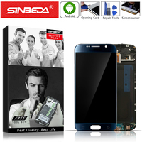 5.1 AMOLED For SAMSUNG Galaxy S6 G920A G920F Display LCD Digitizer Touch Screen with Frame For Samsung S6 LCD Display G920F LCD