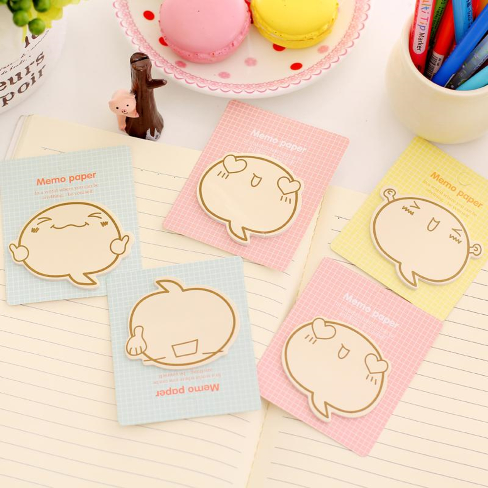 Student Cute Cartoon Kawaii Memo Pad Sticky Paper Creative Encourage Post It Note For Kids Gift Korean Stationery WJ-BJB-34/