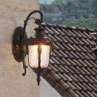 European outdoor waterproof wall lamp retro Black Wall light villa balcony exterior led Sconce Luminaire wall patio light G824