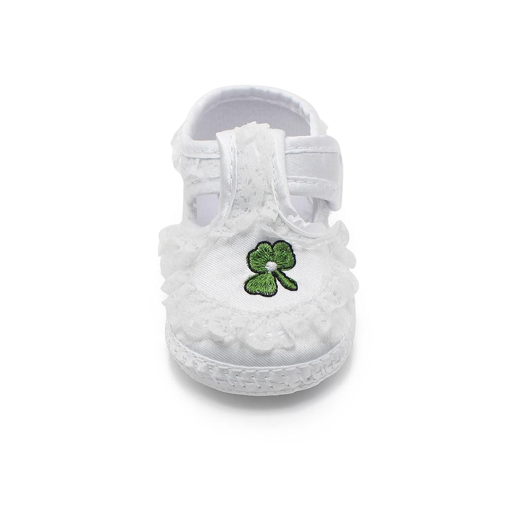 Чисти бели обувки за новородено Меки - Бебешки обувки - Снимка 6