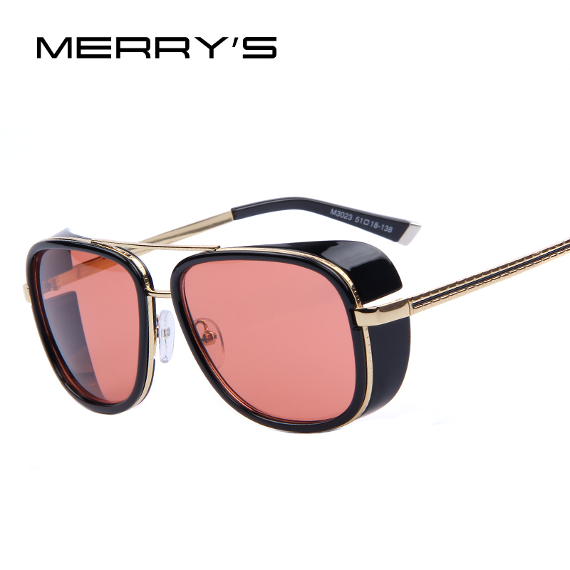 MERRY'S 2017 HOMEM de FERRO 3 Matsuda TONY Steampunk Óculos De Sol Dos Homens Espelhado Designer de Marca Óculos de Sol Do Vintage óculos S'035