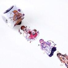 40 мм широкая стильная футболка с изображением персонажей видеоигр и девочек с рисунком в стиле аниме наклейка лента для декорации Washi DIY планировщик дневник в стиле Скрапбукинг маскирующая лента Escolar