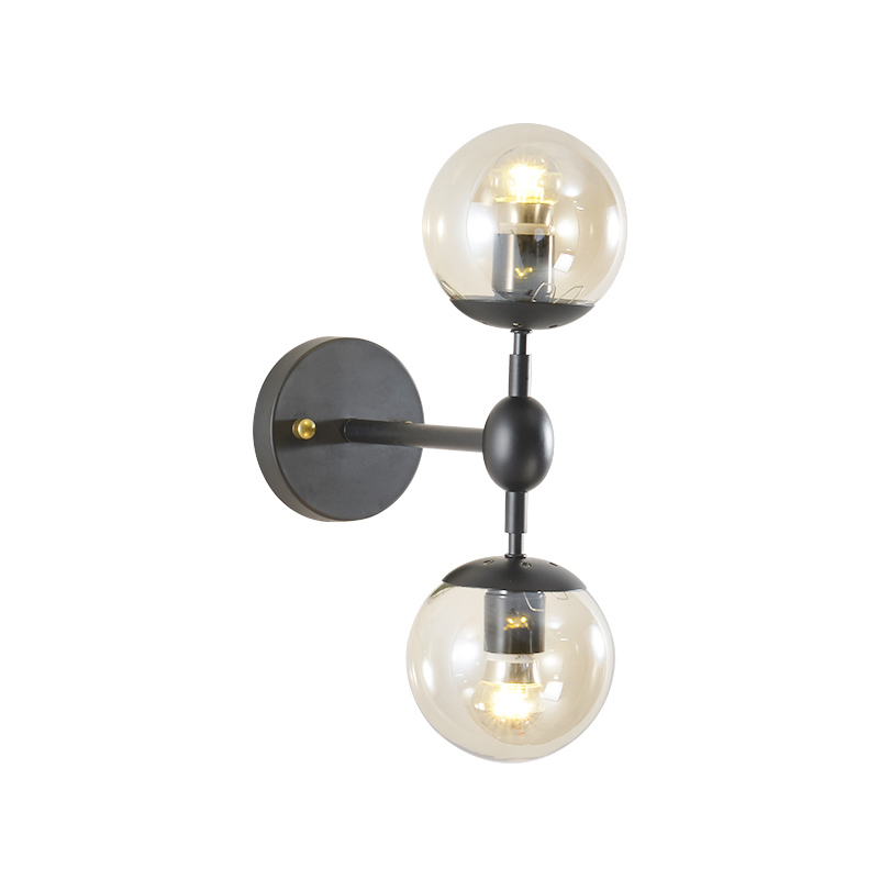 Indoor Wall Lights Modern Glass Wall Lamp Bed Room Kitchen Wall Sconce Hotel Wall Lighting Study Black Lamp Amber GlassIndoor Wall Lights Modern Glass Wall Lamp Bed Room Kitchen Wall Sconce Hotel Wall Lighting Study Black Lamp Amber Glass