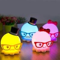 Ziemlich Niedliche Krake Cartoon Led nachtlicht Baby Zimmer Schlafen Licht USB Wiederaufladbare Tischleuchte Nacht Lampen Beste für Geschenke-in LED-Nachtlichter aus Licht & Beleuchtung bei