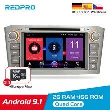 7 IPS Android 9.1 araç DVD oynatıcı Video oynatıcı Toyota Avensis/T25 2003 2008 araba GPS navigasyon Wifi FM BL 2 Din Stereo multimedya