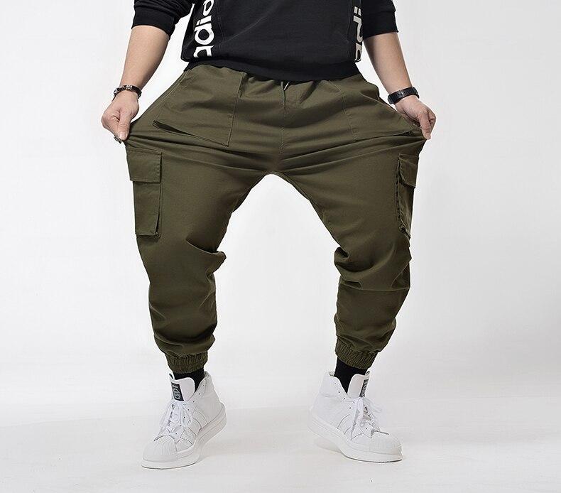 Plus  7XL 6XL Hip Hip Streetwear Men's Camouflage Joggers Pants 2019 Men Cargo Pant Trousers Elastic Waist Harem Pant Men