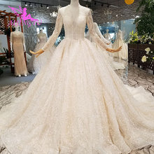 AIJINGYU Wit Tulle Jurken Formele Gowns Ball India Designer Satijn Nieuwste Gown Kleur Trouwjurk Wijzigingen