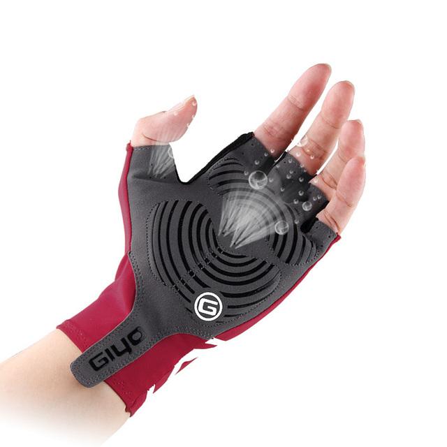 GIYO Anti Slip Gel Pad Bicycle Gloves Gel Pad Short Half Finger Cycling Gloves Breathable Outdoor Sports Men MTB Bikes Gloves