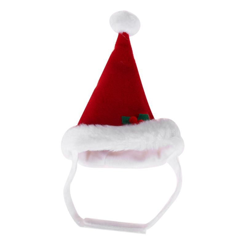 Pet Cat Dog Christmas Santa Claus Hat Warm Winter Hat Cap Xmas Goods for Pets New Year Pet Care Hat Natal Supplies