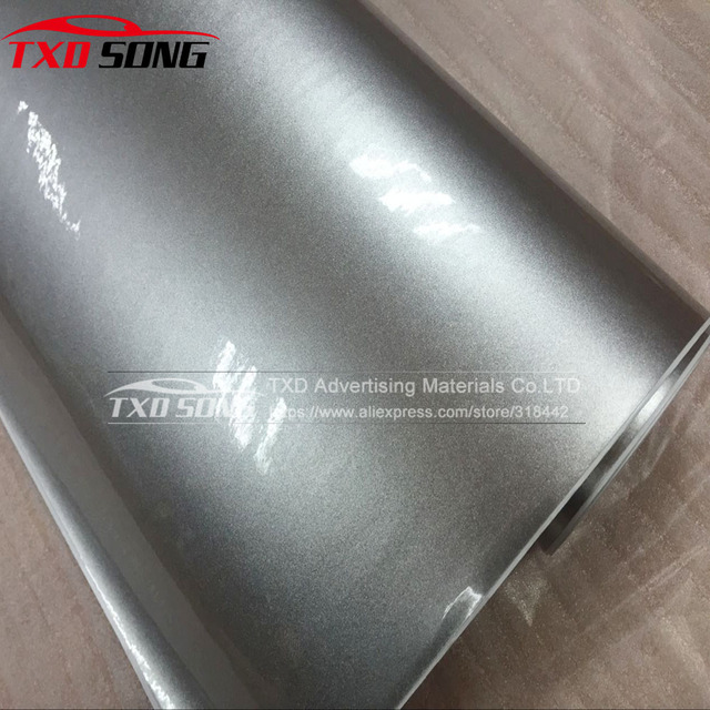 Free shipping Glossy silver pearl glitter wrap film 8fe7ebccc657