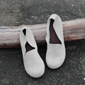 2016 осенью новый раунд натуральная кожа плоские туфли небольшой Японский Институт Pisen плоские туфли ручной работы