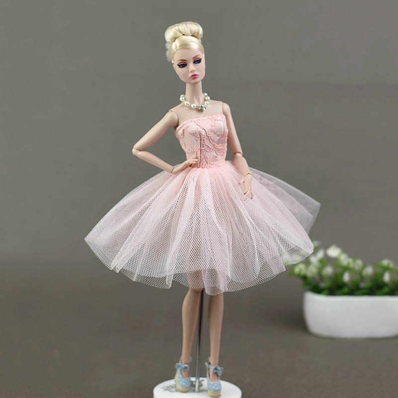 Phụ Kiện búp bê Trang Phục Múa Ba Lê Tắt Shoulder Dresses Ren Gạc Váy Ăn Mặc Quần Áo Đối Với Barbie Búp Bê Cô Gái Món Quà Đồ Chơi