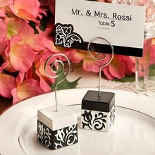 Buy flower stand for wedding decoration and get free shipping on 25pcslot black and white damask design place card holders photo stands wedding decoration favors junglespirit Images