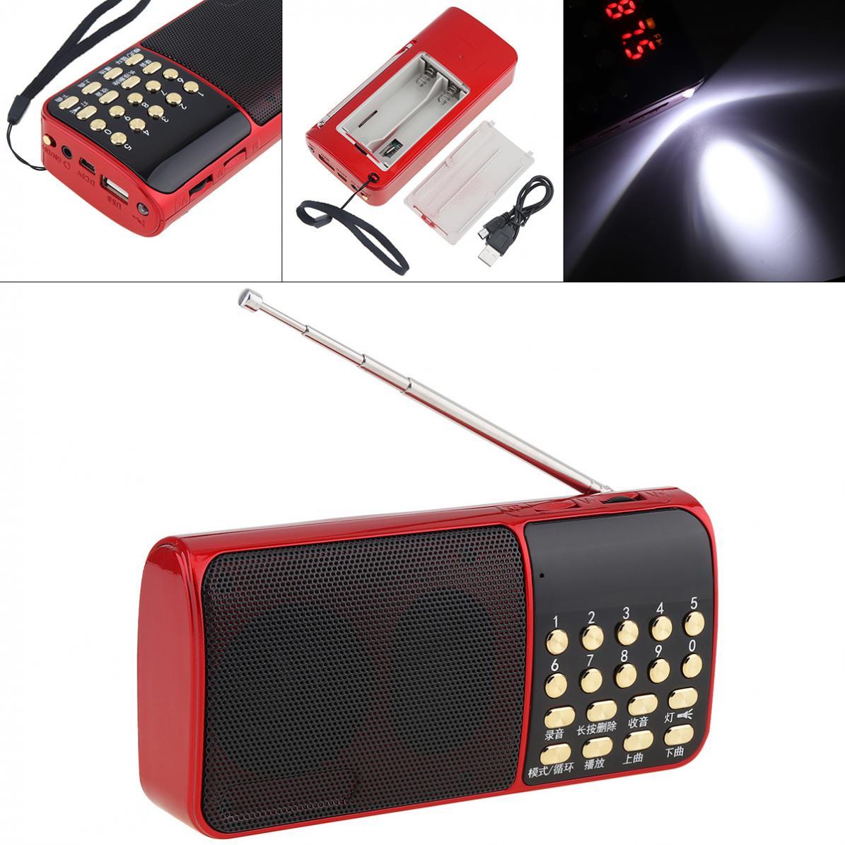 E51 Tragbare Radio Mini Audio Karte Lautsprecher Fm Radio Mit One-taste Beleuchtung Und Haltepunkt Speicher Für Outdoor/ Hause Tragbares Audio & Video
