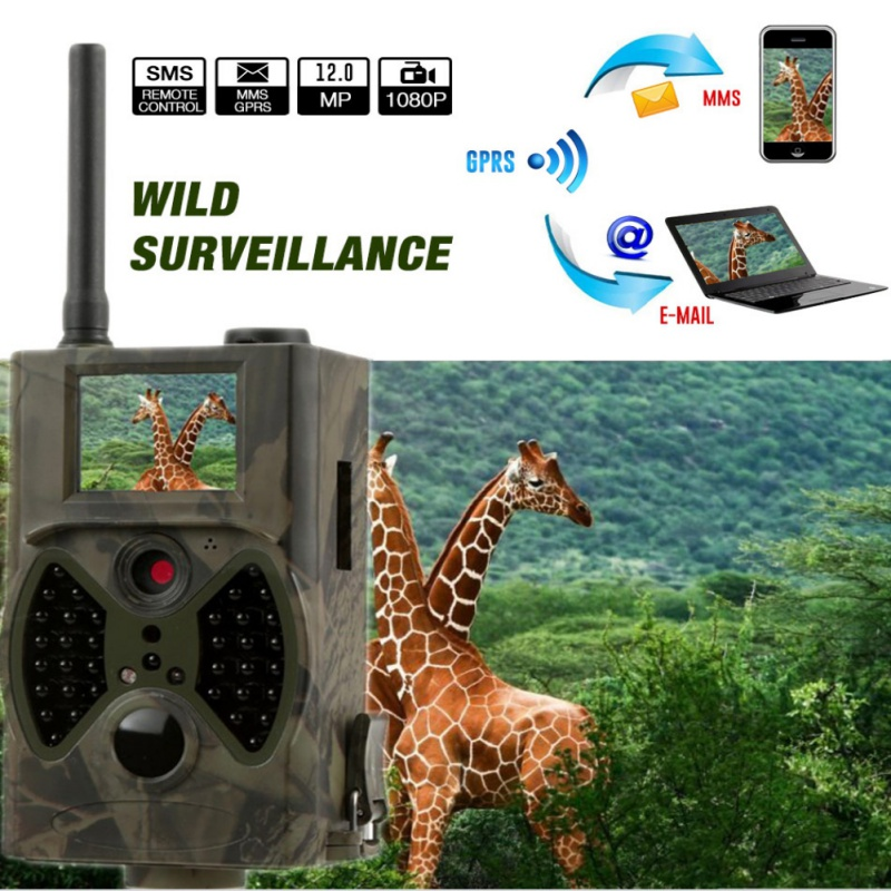 12MP 940nm NO glow Trail Cameras MMS Hunting Cameras Trap Game Cameras Black IR Wildlife Cameras in Hunting Cameras from Sports Entertainment