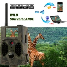 цена на 12MP 940nm NO glow Trail Cameras MMS Hunting Cameras Trap Game Cameras Black IR Wildlife Cameras