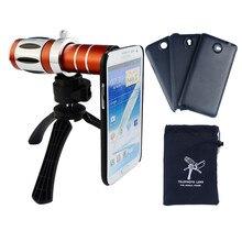 Высокая-конец 20X зум телефото объектива телескопа комплект для Samsung Galaxy S6 S7 Edge Plus Примечание 2 3 4 5 штатив телефон Чехлы Объективы для фотокамер