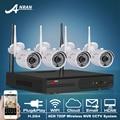 P2P HD 720 P 4CH CCTV Sistema NVR Kit Inalámbrico Al Aire Libre IR Visión nocturna H.264 WIFI Cámara IP de Vigilancia de Seguridad Del Sistema 1 TB HDD