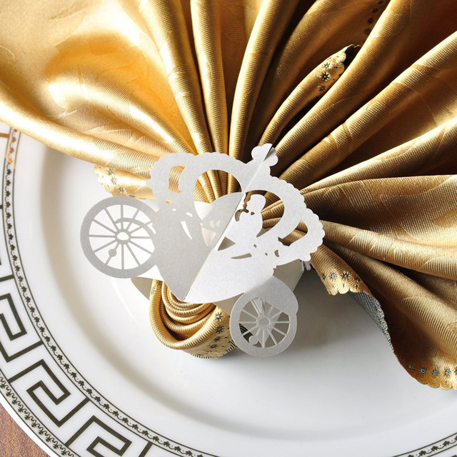 Wedding Paper Napkin Rings 50 pcs/lot