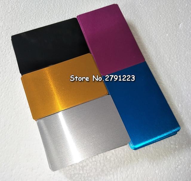 100 Pcs Blanc Sublimation Metal Nom Limpression De Cartes Visite Vierge Carte D