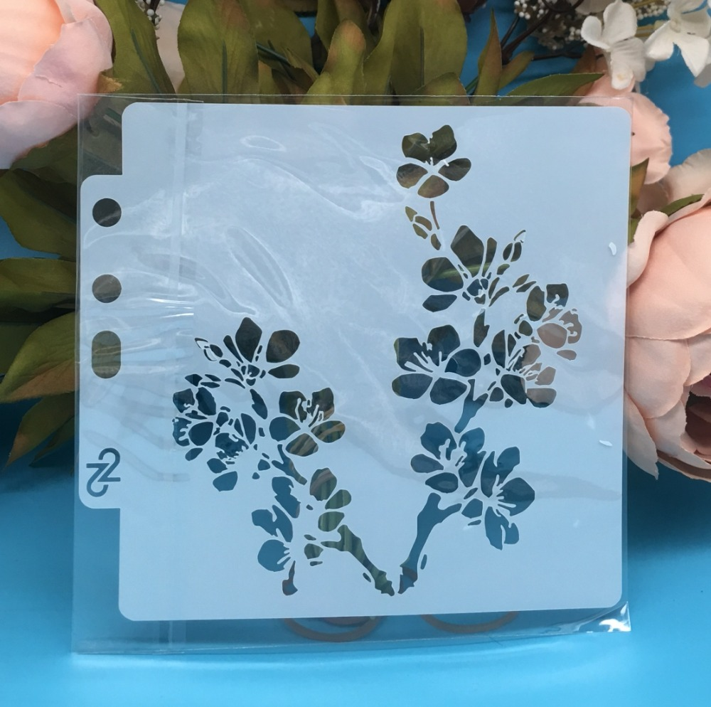 13cm New Flower DIY Layering Stencils Wall Painting Scrapbook Coloring Embossing Album Decorative Card Template