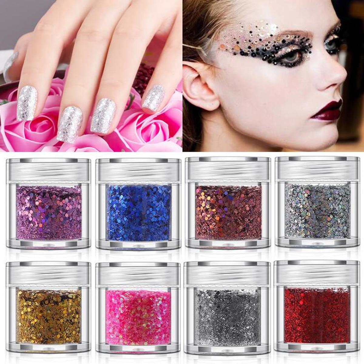 1box Ultrathin Sequins Nail Glitter Flakes Irregular Polygon DIY Sparkly Paillette Nail Art Eye Lip Makeup Decoration