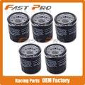 5 x filtro de óleo limpo para kle500 ex500 zx600 kawasaki en500 zx636 er-6f er-6n w650 vn750 vn800 z750 z1000 zx900