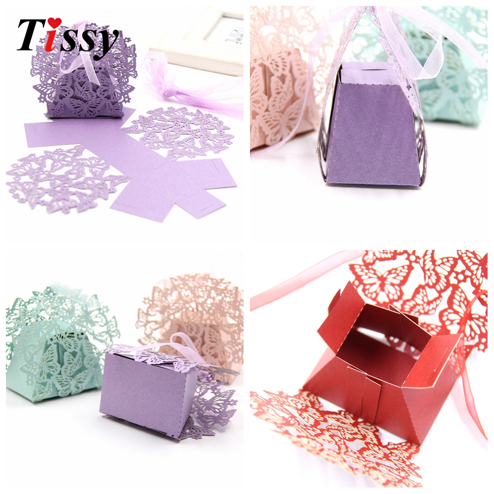 20PCS DIY Butterfly Candy Box Wedding Favors Paper Gift Box Handmade ...