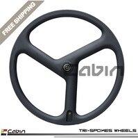 New Design Tri Spoke 3 Spoek Carbon Bike Wheel Light Weight Novatec Hub High Quality Cheap