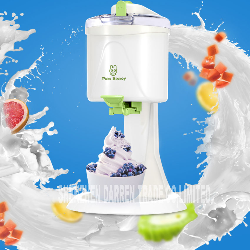 1pc new BL-1000 Automatic DIY ice cream machine Home children ice cream machine automatic fruit cone ice cream machine 220V 21W free shiping fried ice cream machine 75 35cm big pan with 5 buckets fried ice machine r22 ice pan machine ice cream machine